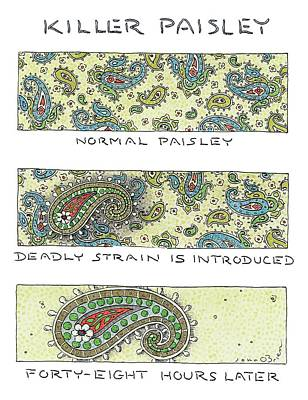 Virus Drawing - Panels Show The Progressive Development by John O'Brien