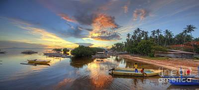 Photograph - Panglao Port Sunset 7.0 by Yhun Suarez
