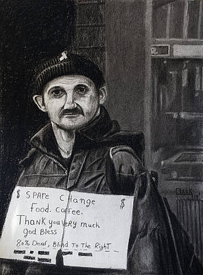 Drawing - Panhandler by Wade Clark
