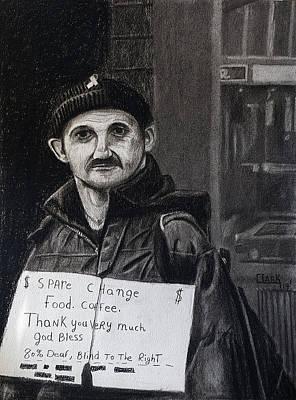 Drawing - Panhandler by Wade Clark
