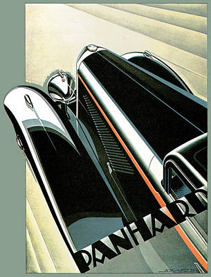 Photograph - Panhard by Vintage Automobile Ads and Posters