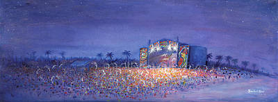 Painting - Panic El La Playa Widespread Panic by David Sockrider