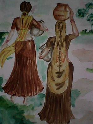 Painting - Paniharan by Hihani Gautam