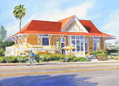 Historic Architecture Painting - Pannikin Encinitas by Mary Helmreich