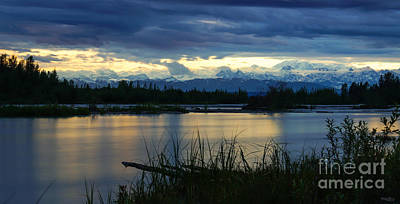 Photograph - Pano Denali Midnight Sunset by Jennifer White