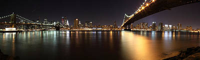 Pano Manhattan Large Art Print by Paslier Morgan
