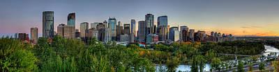 Panoramic - City Of Calgary Original by Yves Gagnon