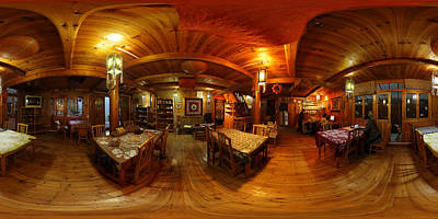 Photograph - Panorama - A Chinese Guesthouse by Afrison Ma