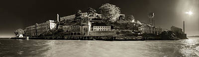 Photograph - Panorama Alcatraz Up Close by Scott Campbell