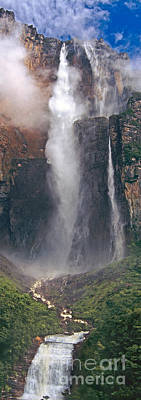 Art Print featuring the photograph Panorama Angel Falls In Canaima National Park Venezuela by Dave Welling