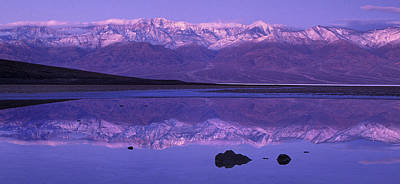 Photograph - Panorama Badwater And The Panamint Range At Sunrise Death Valley by Dave Welling