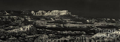 Photograph - Panorama Bryce Canyon Storm In Black And White by Dave Welling