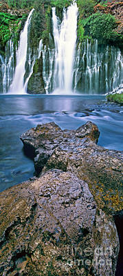 Photograph - Panorama Burney Falls Mcarthur Burney State Park Ca by Dave Welling