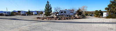 Panorama Cedar Cove Rv Park Street 2 Art Print by Roena King