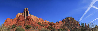 Photograph - Panorama Chapel Of The Holy Cross Sedona Az by Scott Campbell