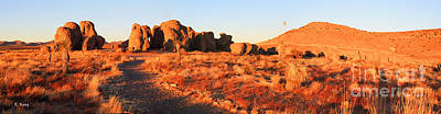 Photograph - Panorama City Of The Rocks Last Light 4 by Roena King