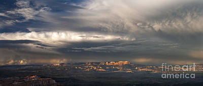 Photograph - Panorama Clearing Summer Storm Bryce Canyon National Park Utah by Dave Welling