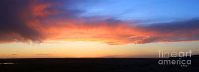 Photograph - Panorama Colorful Sunset by Roena King