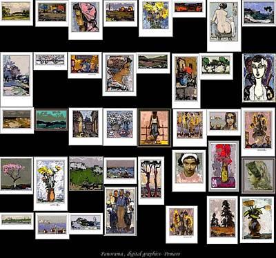 Panorama Digital Graphics Art Print by Pemaro