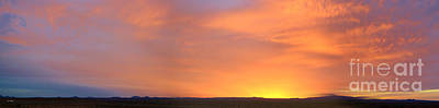 Photograph - Panorama Fire In The Sky 2 Sunset by Roena King