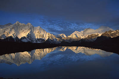 Photograph - Panorama From Mt Makalu To Everest by Colin Monteath