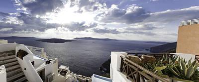 Photograph - Panorama Greece Santorini 07 by Sentio Photography