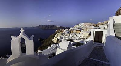 Photograph - Panorama Greece Santorini 08 by Sentio Photography