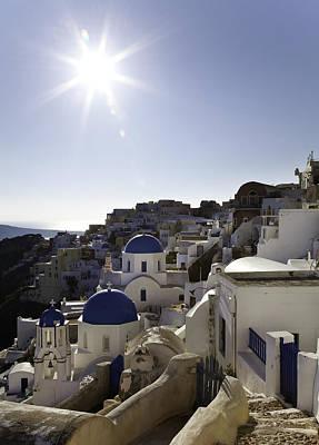 Photograph - Panorama Greece Santorini 10 by Sentio Photography
