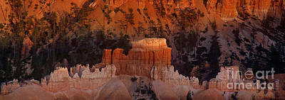 Photograph - Panorama Hoodoos Sunset Bryce Canyon National Park Utah by Dave Welling