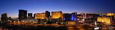 Photograph - Panorama Las Vegas At Night by Sheila Kay McIntyre