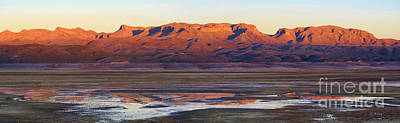 Photograph - Panorama Last Lights Reflections by Roena King