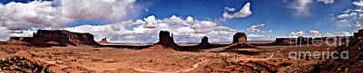 Panorama - Monument Valley Park Art Print