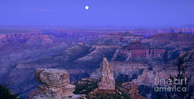 Photograph - Panorama Moonrise Over Point Imperial Grand Canyon National Park by Dave Welling