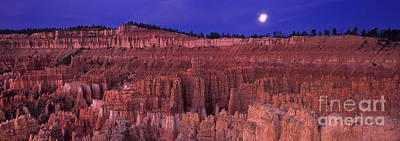 Photograph - Panorama Moonrise Silent City Bryce Canyon National Park by Dave Welling