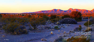 Photograph - Panorama Morning View Of Mountains 2 by Roena King