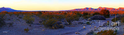 Photograph - Panorama Morning View Of Mountains by Roena King