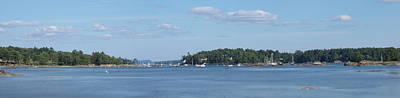 Photograph - Panorama Of Blue Hill Harbor by Georgia Hamlin