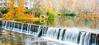 Panorama Of Buck Creek In Autumn Art Print by Parker Cunningham