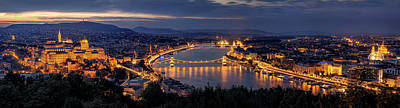 Panorama Of Budapest Art Print by Thomas D M?rkeberg