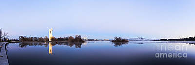 Panorama Of Canberra Australia Art Print by Colin and Linda McKie