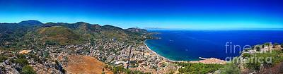 Panorama Of Cefalu Art Print by Stefano Senise