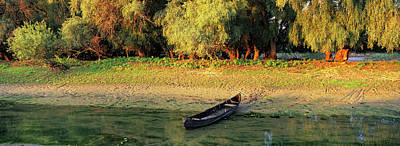 Willow Lake Photograph - Panorama Of Channel In The Danube Delta by Martin Zwick
