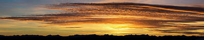Panorama Of Colourful Dramatic Clouds Art Print