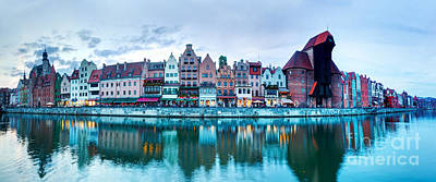 Photograph - Panorama Of Gdansk Old Town And Motlawa River Poland by Michal Bednarek