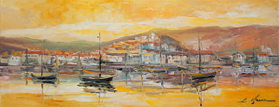 Rusty Trucks - Panorama of Harbour by Luke Karcz