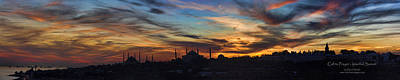 Sophia Photograph - Panorama Of Istanbul Sunset- Call To Prayer by David Smith