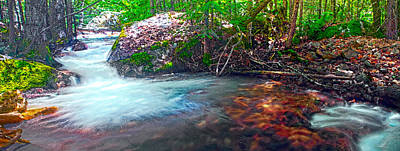 Digital Art - Panorama Of Light And Shadow Along Tenaya Creek by Steven Barrows