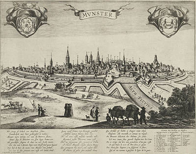 Allard Drawing - Panorama Of Mnster, Pieter Nolpe, Hugo Allard by Pieter Nolpe And Hugo Allard And Anonymous