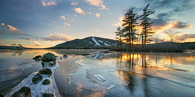 Photograph - Panorama Of Moose Pond by Darylann Leonard Photography