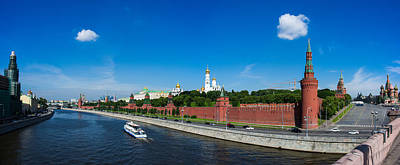 Panorama Of Moscow Kremlin In Summer Morning - Featured 3 Art Print